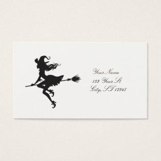 Tarjeta De Visita Escoba Halloween Thunder_Cove del montar a caballo