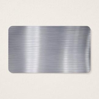 """Tarjeta De Visita Esconda el """"falso aluminio de aluminio cepillado """""""