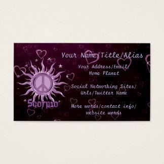 Tarjeta De Visita Escorpión de Sun de la paz