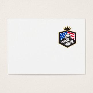 Tarjeta De Visita Escudo de la bandera de los E.E.U.U. de la