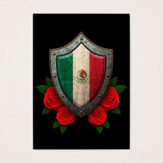 Tarjeta De Visita Escudo gastado de la bandera mexicana con los