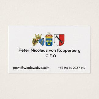 Tarjeta De Visita Essen 1, Suecia, Peter Nicolaus…