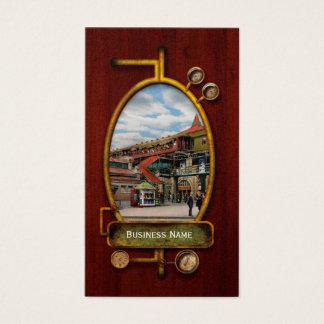 Tarjeta De Visita Estación de tren - casa atlántica 1910 del control