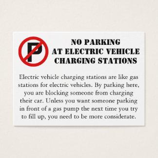 Tarjeta De Visita Estacionamiento prohibido en los puntos de carga