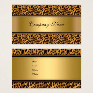 Tarjeta De Visita Estampado de animales elegante del leopardo del