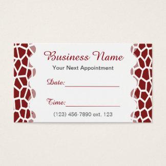 Tarjeta De Visita Estampado de girafa del color de la selección de