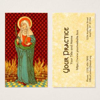 Tarjeta De Visita Estándar del St. Apollonia (VVP 001) FB