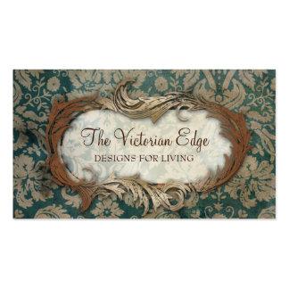 Tarjeta de visita estética del damasco del Victori