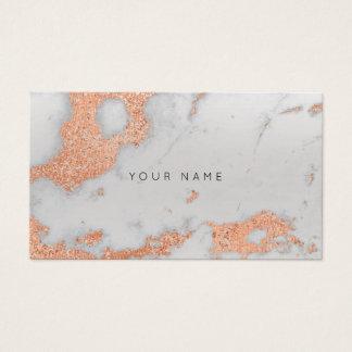 Tarjeta De Visita Estilista metálico del mármol de cobre color de
