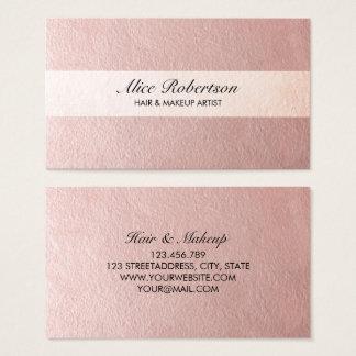 Tarjeta De Visita Estilo brillante rosado moderno