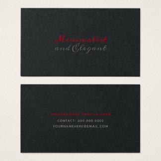 Tarjeta De Visita Estilo minimalista y elegante de la escritura en