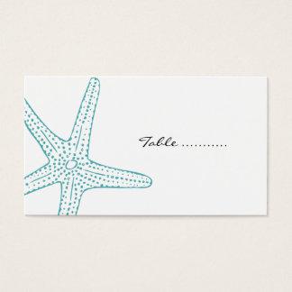 Tarjeta De Visita Estrellas de mar de la turquesa que casan