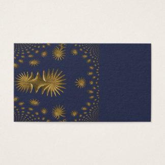 Tarjeta De Visita Estrellas de oro del fractal