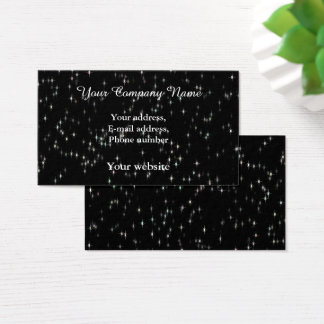 Tarjeta De Visita Estrellas multicoloras del pastel/fondo negro