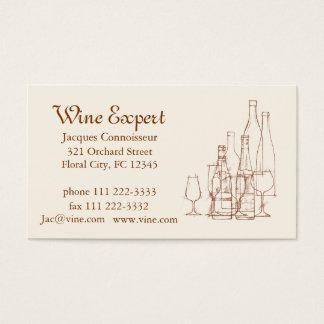 Tarjeta De Visita Experto del vino