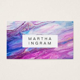 Tarjeta De Visita Extracto púrpura de la galaxia del diseño creativo