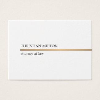 Tarjeta De Visita Falsa línea blanca elegante minimalista abogado
