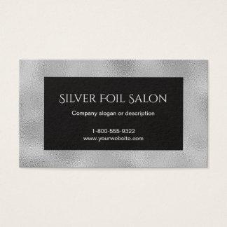 Tarjeta De Visita Falsa mirada de la hoja de plata con negro
