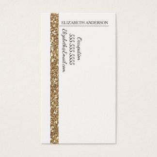 Tarjeta De Visita Falsa raya del brillo del oro atractivo