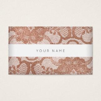 Tarjeta De Visita Falso cordón color de rosa rosado Vip del polvo