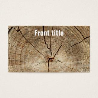 Tarjeta De Visita Falso fondo de los anillos de árbol
