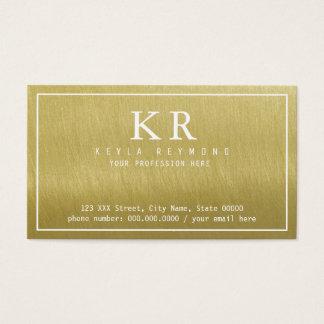 Tarjeta De Visita falso oro elegante/presentación elegante de oro