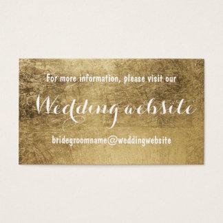Tarjeta De Visita Falso Web site de lujo del boda de la hoja de oro