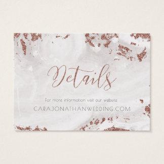 Tarjeta De Visita Falsos copos de nieve color de rosa del oro del