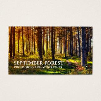 Tarjeta De Visita Favorable fotografía (bosque)