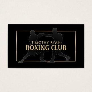 Tarjeta De Visita Favorables boxeadores del vintage, encajonando
