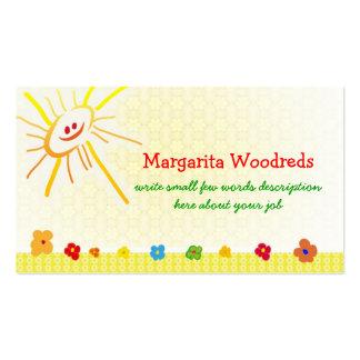 tarjeta de visita feliz de los niños