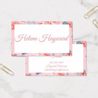 Tarjeta de visita femenina y floral