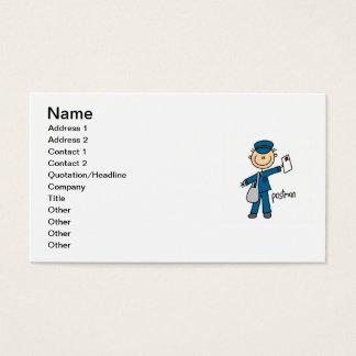 Tarjeta De Visita Figura del palillo del empleado de correos