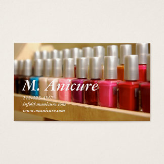 Tarjeta De Visita fila de nailpolishes coloreados multi