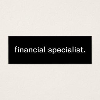 Tarjeta de visita financiera del especialista