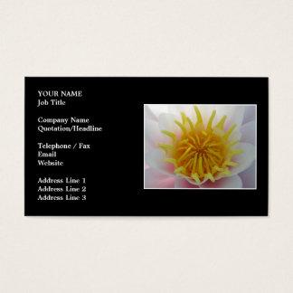 Tarjeta De Visita Flor blanca y amarilla