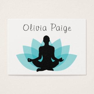 Tarjeta De Visita Flor de Lotus de la meditación del instructor de
