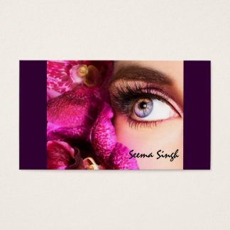 Tarjeta De Visita Flor del artista de maquillaje