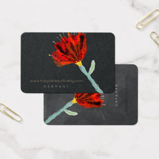 Tarjeta De Visita Flor roja