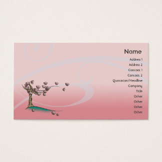 Tarjeta De Visita Flor rosado - negocio