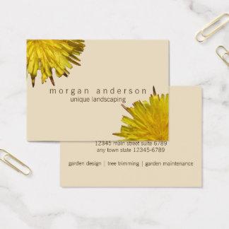 Tarjeta De Visita Floral beige del jardinero el pipe% profesional