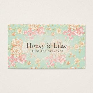 Tarjeta de visita floral de la impresión bonita