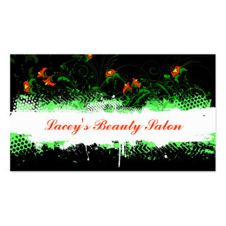 Tarjeta de visita floral decorativa del Grunge