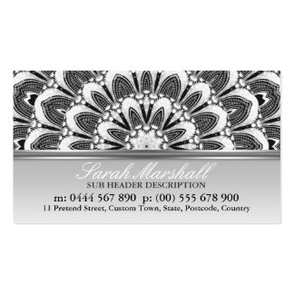 Tarjeta de visita floral del logotipo de la fantas