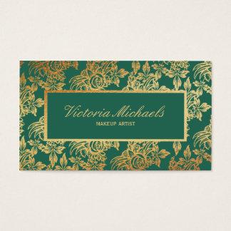 Tarjeta de visita floral elegante del trullo y del