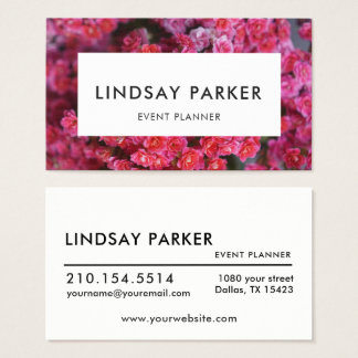 Tarjeta de visita floral moderna del planificador