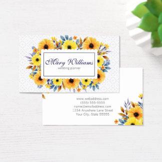 Tarjeta de visita floral profesional