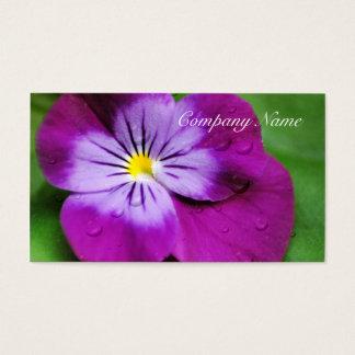Tarjeta De Visita Floral púrpura del Wildflower de la flor del