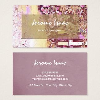 Tarjeta de visita floral violeta moderna de la tarjeta de visita