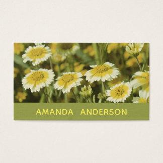 Tarjeta De Visita Flores amarillas